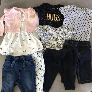 Bundle of 3Month baby girl clothes